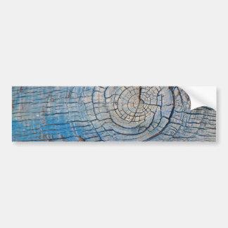 Blue Wood Texture bumper sticker