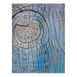 Blue Wood Texture postcard
