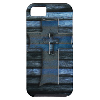 Blue Wooden Cross iPhone 5 Cover