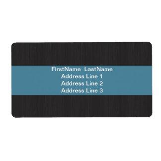 Blue & Woodgrain Professional Shipping labels