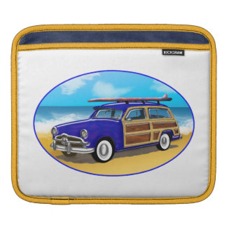 Blue Woodie on Golden Beach Sleeve For iPads