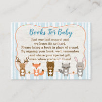 Blue Woodland Animal Book Request Cards