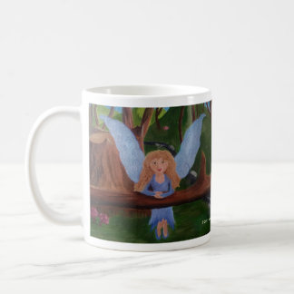 Blue Woodland Fairy original oil painting Coffee Mug