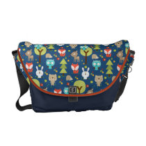 Blue Woodland Friends Diaper Bag