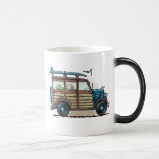 Blue Woody Wagon Mugs