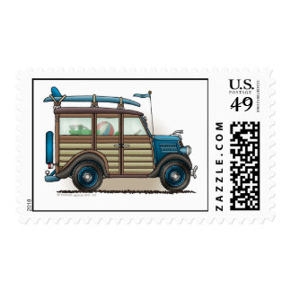 Blue Woody Wagon Stamps