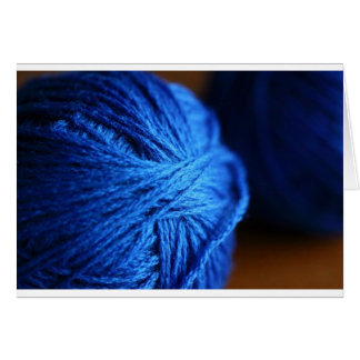 Blue wool card