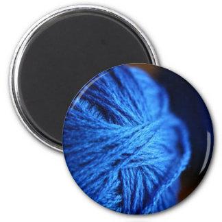 Blue wool magnet