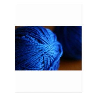 Blue wool postcard