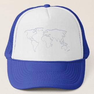 Blue World Cutout Hat