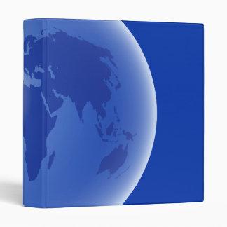Blue World Globe Binder