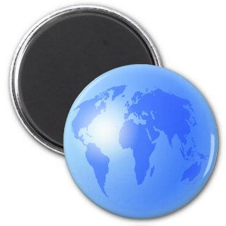 Blue World Globe Refrigerator Magnet
