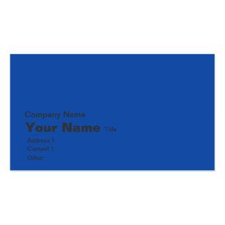 Blue world map business card template