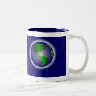 Blue World of Thanks Mug