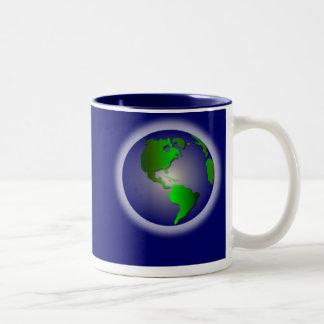 Blue World of Thanks Mug2 Two-Tone Coffee Mug