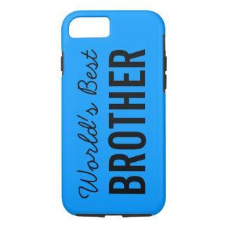 Blue World's Best Brother Custom iPhone 7 Case