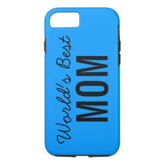 Blue World's Best Mom Custom iPhone 7 Case