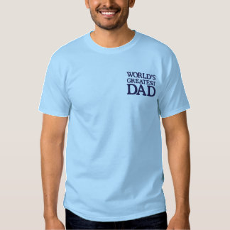 Blue World's Greatest Dad Embroidered T-Shirt
