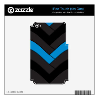 Blue Woven Strike Skin For iPod Touch 4G