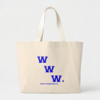 Blue WWW Canvas Bag