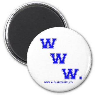 Blue WWW Refrigerator Magnets
