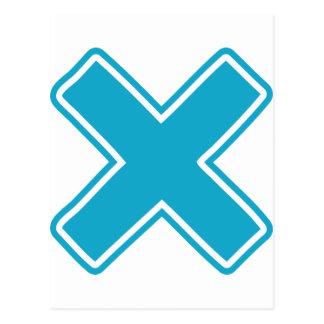Blue X Postcard