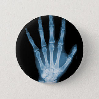 Blue X-ray Skeleton Hand Button