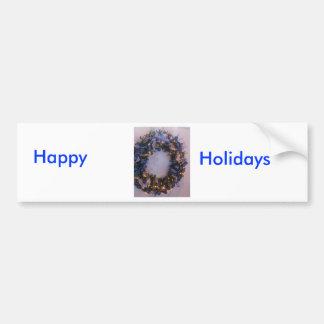 Blue Xmas Bumper Sticker
