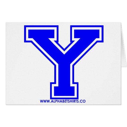 Blue Y Card