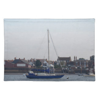 Blue Yacht On The Crouch Placemats