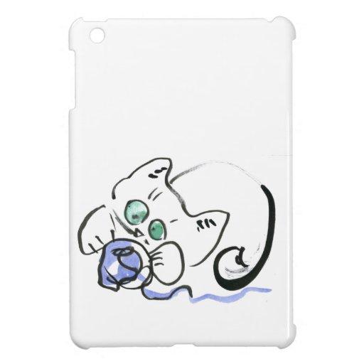Blue Yarn and White Kitten iPad Mini Case