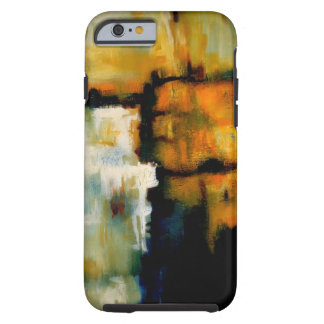Blue Yellow Abstract Expressionist Artwork Tough iPhone 6 Case