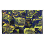 Blue Yellow Abstract fractal 8 iPad Folio Cover