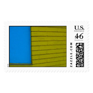 Blue Yellow Abstract - postage stamp