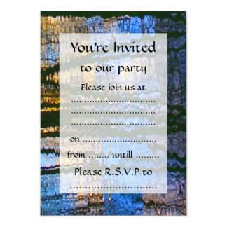 Blue & Yellow Abstract Reflections Patterned Card