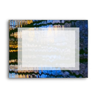 Blue & Yellow Abstract Reflections Patterned Envelope