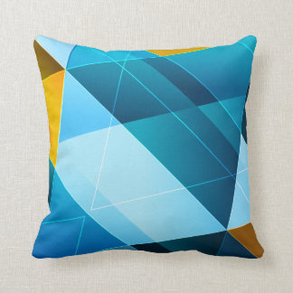 Blue/Yellow Abstract Throw Pillow
