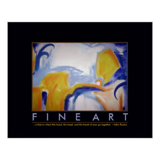 blue&yellow abstraction fine-art poster