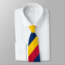 Blue Yellow and Red Regimental Stripe Neck Tie