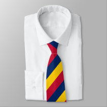Blue Yellow and Red Regimental Stripe Tie