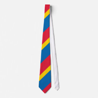 Blue Yellow and Red Striped Neck Tie