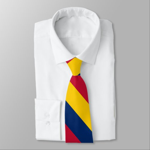 Blue Yellow and Red University Stripe Tie