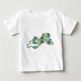 Blue & Yellow Argyle Octopus Baby T-Shirt