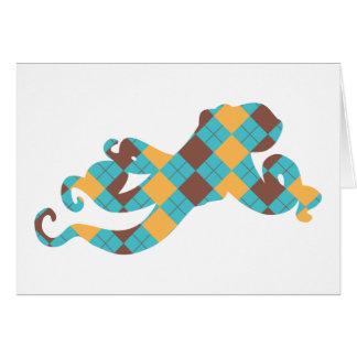 Blue & Yellow Argyle Octopus Card