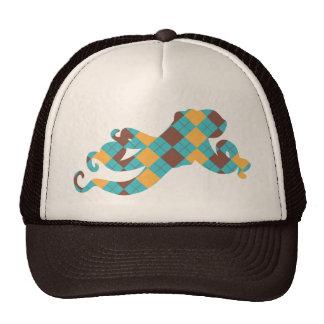 Blue & Yellow Argyle Octopus Hats
