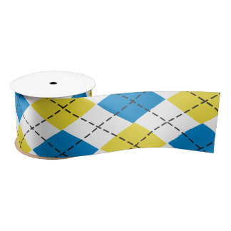 Blue & Yellow Argyle Ribbon
