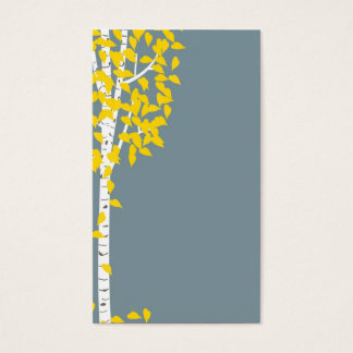 Blue Yellow Aspen Tree Business Cards