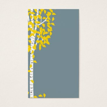 Professional Business Blue Yellow Aspen Tree Business Cards