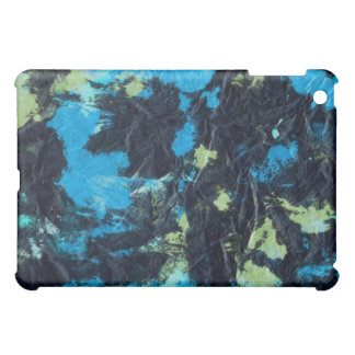 blue yellow black wrinkled paper towel iPad mini case
