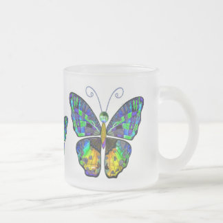 Blue Yellow Butterfly mug